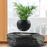 Portátil levitante maceta flotante Pot Aire Bonsai magnética Suspensión Planta Creative Design levitación Bonsai - Home Office Decoraciones - Diversión Negro regalo (Color : Black, Size : M)