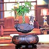 Mnjin Bote de bonsái Flotante para decoración del hogar - Bote de bonsái de Aire de levitación con suspensión magnética para decoración del hogar - Bonsái de levitación de diseño Creativo