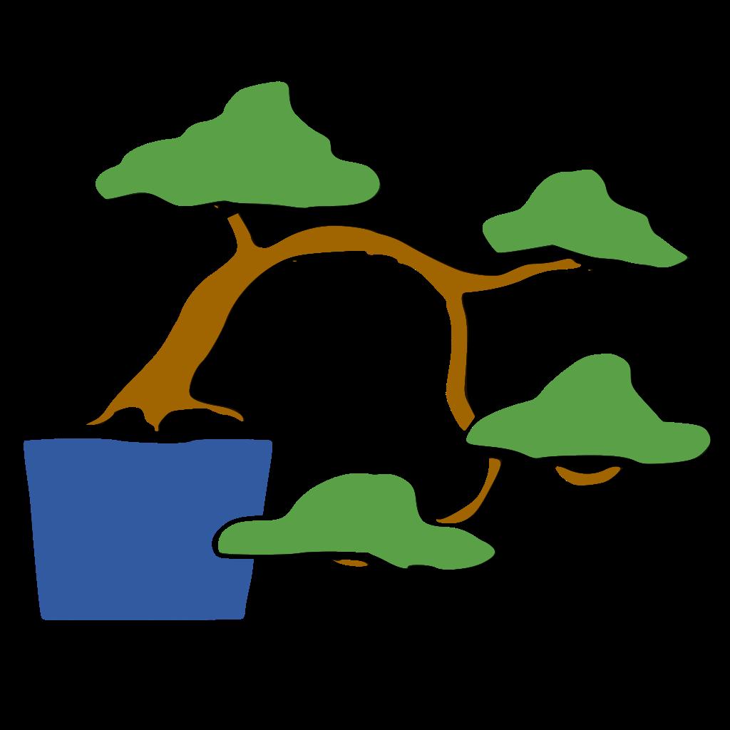 dibujo bonsái estilo semicascada