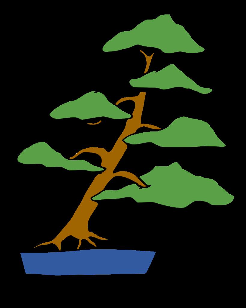 dibujo bonsai shakan estilo inclinado