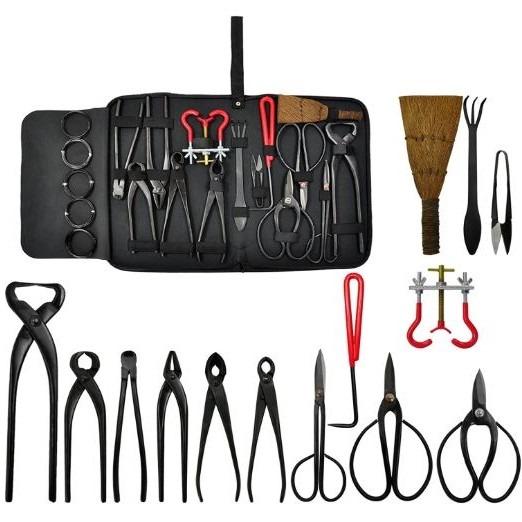 set de herramientas de bonsais con estuche