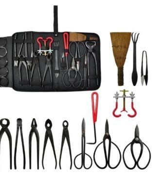 set de herramientas para bonsais